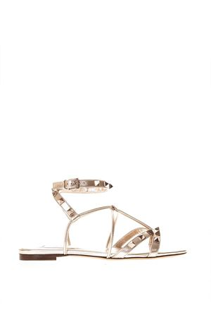 ROCKSTUD ROSEGOLD THONG SANDALS IN LEATHER SS 2018 VALENTINO GARAVANI | 87 | PW2S0G04HJSL30