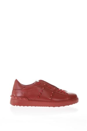 RED ROCKSTUDS UNTITLED LEATHER SNEAKERS SS 2018 VALENTINO GARAVANI | 55 | PY2S0931MZD0RO