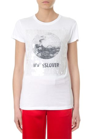 WAWESOLVER SEQUINED WHITE COTTON T-SHIRT SS 2018 VALENTINO | 15 | PB0MG07T3Y70BO