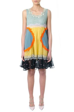 SILK & LACE MULTICOLOURED DRESS SS 2018 VALENTINO | 32 | PB0VAHS63WNM12