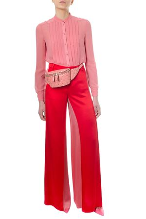PLEATED CANDY PINK SILK GEORGETTE SHIRT SS 2018 VALENTINO | 9 | PB3AB0S00WBI78