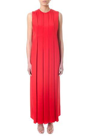 RED SILK PLEATED DRESS SS 2018 VALENTINO | 32 | PB3VAGI53NYP63