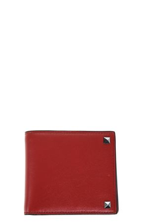 ROCKSTUD RED LEATHER WALLET SS 2018 VALENTINO | 34 | PY0P0654VH30RO