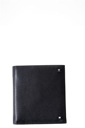ROCKSTUD BLACK LEATHER WALLET SS 2018 VALENTINO | 34 | PY0P0P66VH30NONERO