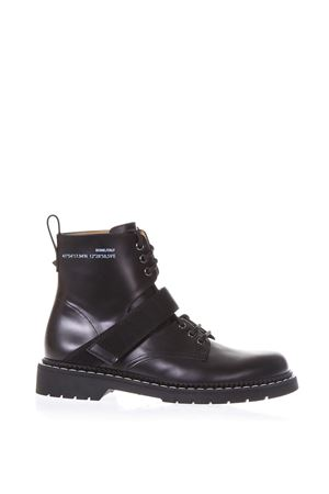 BLACK ALWAYS ARMY BOOTS IN LEATHER SS 2018 VALENTINO GARAVANI | 52 | PY2S0A47ESZ0NI