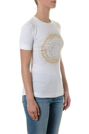 WHITE T-SHIRT WITH MEDUSA VERSACE LOGO SS18 VERSACE | 15 | A79091A213311A1001