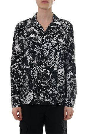 GRAFFITI PRINT BLACK COTTON SHIRT SS 2018 VERSUS | 9 | BU20273BT21061B7008