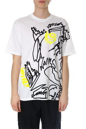 White cotton printed Doodle Lion T-shirt SS2018 VERSUS | 15 | BU90556BJ10289B7001