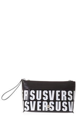 BLACK LEATHER VERSUS SHOULDER BAG SS18 VERSUS | 2 | FPX0016FVPLMF498N