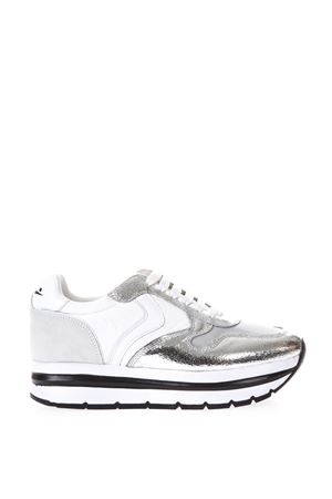 SNEAKERS ALTA BIANCA E ARGENTO IN PELLE PE 2018 VOILE BLANCHE | 55 | MAY001 2012419 02 9112ARGENTO BIANCO