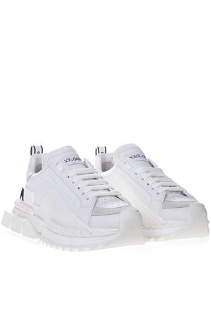 SUPER KING WHITE LEATHER SNEAKER SS19 DOLCE & GABBANA | 55 | CS1649AZ67289642