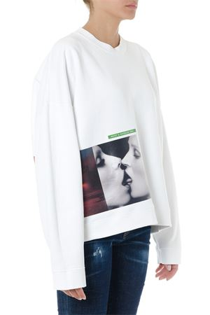 WHITE COTTON SWEATSHIRT WITH STAMP SS19 DSQUARED2 | 19 | S73GU0040S25030100