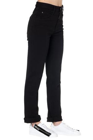 MERT & MARCUS BLACK ELASTIC COTTON PANTS SS19 DSQUARED2   8   S73LA0216S39781900