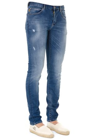 BLUE WASHED & WORN COTTON JEANS SS19 EMPORIO ARMANI | 4 | 3G1J101D5MZ0941
