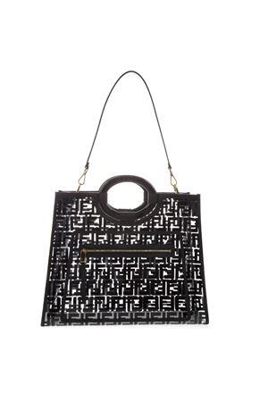 BLACK RUNAWAY SHOPPING BAG IN PU SS19 FENDI | 2 | 8BH360A7S0F0KUR