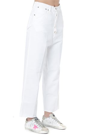WHITE COTTON OVERSIZE PANTS SS19 GOLDEN GOOSE DELUXE BRAND | 8 | G34WP1841B1