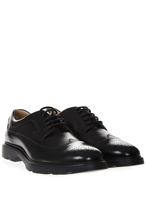 ROUTE H304 SHOES IN BLACK LEATHER SS 2019 HOGAN | 208 | HXM3930BH706Q6B999