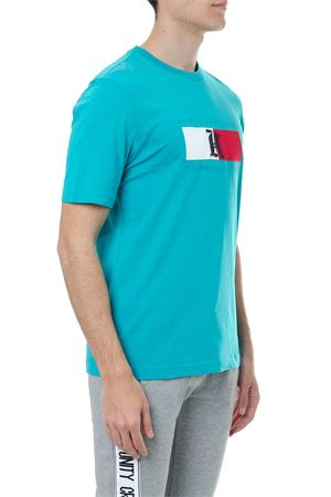 TURQUOISE COTTON LEWIS HAMILTON T-SHIRT SS 2019 TOMMY HILFIGER | 15 | MW0MW094021305