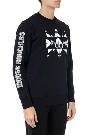 BLACK COTTON LOGO PULLOVER SS19 MOOSE KNUCKLES | 16 | M19MS6041292