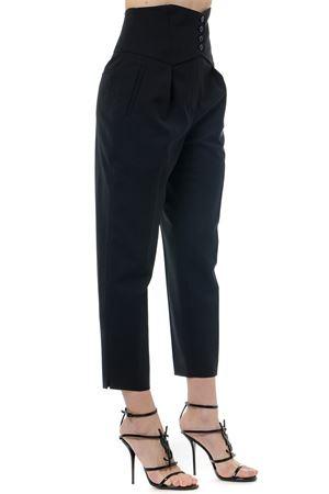 BLACK WOOL BUTTONED PANTS SS19 SAINT LAURENT | 8 | 568463Y404W1000