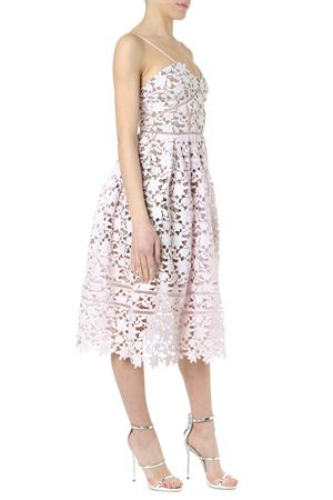 PINK FLORAL EMBROIDERED MIDI DRESS SS 2019 SELF PORTRAIT | 32 | SP21-009PPINK AZAELEAPINK