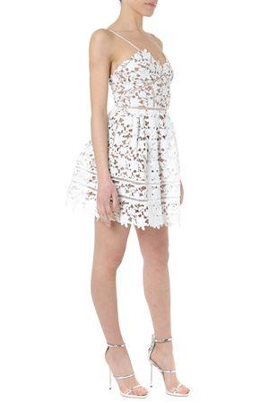 WHITE FLORALL LACE MINI DRESS SS 2019 SELF PORTRAIT   32   SP21-112MINI AZALEA WHITE
