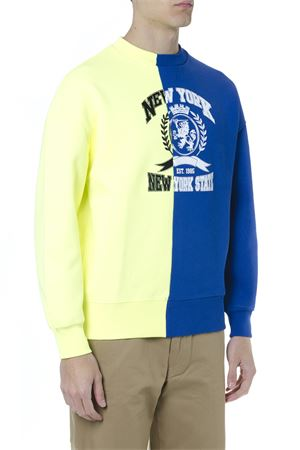BLUE YELLOW COLOR BLOCK EMBOIDERED SWEATSHIRT SS 2019 TOMMY HILFIGER | 19 | RE0RE002101902
