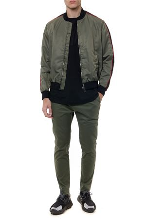 KHAKI BOMBER JACKET IN SYNTHETIC FIBER SS19 URBAN LES HOMMES | 27 | URG215AUG35113159