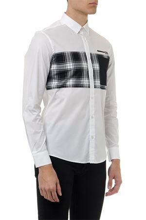 WHITE COTTON BLACK INSERTS SHIRT SS19 URBAN LES HOMMES | 9 | URG603AUG500C11009