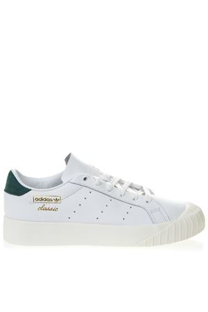 EVERYN WHITE LEATHER SNEAKERS WITH GREEN NUBUCK INSERT SS 2019 ADIDAS ORIGINALS | 55 | CG6076EVERYN WFTWR WHITE