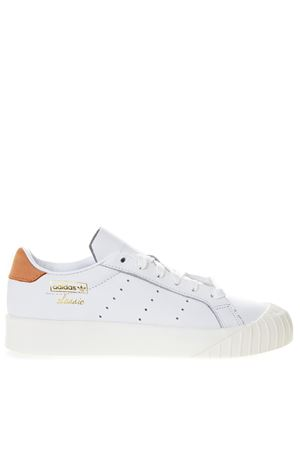 EVRYN WHITE LEATHER WITH ORANGE NUBUCK INSERT SS 2019 ADIDAS ORIGINALS | 55 | CG6181EVERYN WFTWR WHITE