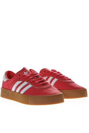 SNEAKERS SAMBAROSE IN PELLE DI COLORE ROSSO PE 2019 ADIDAS ORIGINALS | 55 | DB2696SAMBAROSE WSHOCK RED