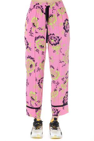 PINK FLOWER VISCOSE PANTS SS19 McQ ALEXANDER MCQUEEN | 8 | 533161RMF075702