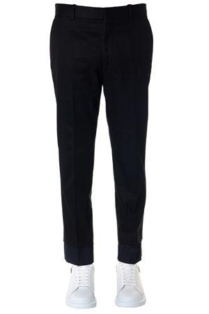 BLACK & BLUE COTTON & SATIN PANTS SS19 ALEXANDER McQUEEN | 8 | 541251QMS110901