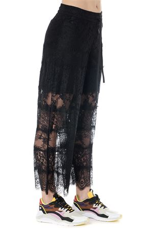 BLACK LACED & COTTON PANTS SS19 McQ ALEXANDER MCQUEEN | 8 | 545650RMJ341000