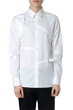 HARNESS WHITE COTTON SHIRT SS19 ALEXANDER McQUEEN   9   550161QMN669000