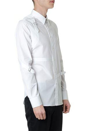 HARNESS WHITE COTTON SHIRT SS19 ALEXANDER McQUEEN | 9 | 550161QMN669000