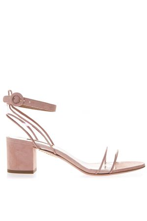 60MM ROSE SUEDE & PVC SANDALS SS 2019 AQUAZZURA | 87 | MINMIDS1SPV989