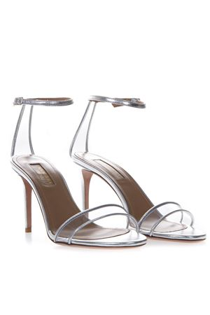 SILVER LEATHER & PVC SANDALS SS 2019 AQUAZZURA | 87 | MNMIDS0NPLCCC