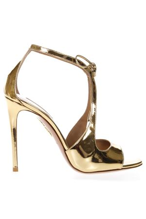 OSCAR GOLD METALLIC LEATHER SANDALS