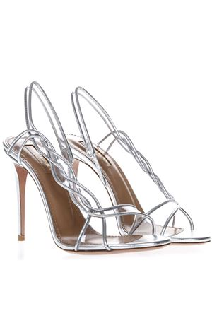SWING SILVER LEATHER SANDALS SS 2019 AQUAZZURA | 87 | SWIHIGS0NLPCCC