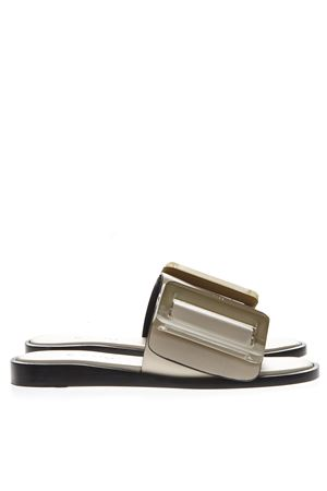 BIRCH ECRU LEATHER SANDALS SS19 BOYY | 87 | BUCKLE1ECRU
