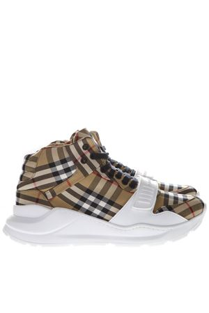 HIGH TARTAN COTTON SNEAKERS SS19 BURBERRY | 55 | 4078551110700