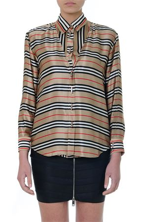 CAMICIA CON CANOTTA IN SETA CON RIGHE MULTICOLORE PE19 BURBERRY | 9 | 45609221A7026