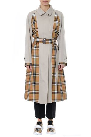 TRENCH GUISELEY IN GABARDINE CON INSERTI STAMPA CHECK PE 2019 BURBERRY | 31 | 80061741A41450