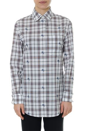 SHIRT IN FIL COUPÉ PRINT CHECK LOGO EQUESTRIAN KNIGHT SS 2019 BURBERRY | 9 | 80062871A6260