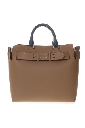 BORSA COLOR BLOCK CAMEL E BIANCA IN PELLE PE 2019 BURBERRY | 2 | 80067991A1381