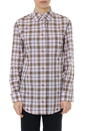 PINK COTTON SHIRT CHECK PRINT LOGO EQUESTRIAN KNIGHT SS 2019 BURBERRY | 9 | 80076401A6257