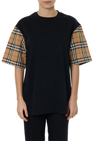 BLACK COTTON VINTAGE SLEEVES T-SHIRT SS19 BURBERRY | 15 | 80077161A1189
