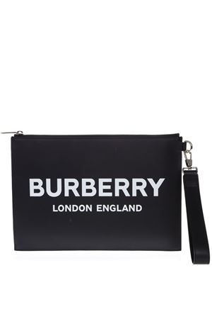 BLACK SMOOTH LEATHER CLUTCH SS 2019 BURBERRY | 2 | 80092141A1189